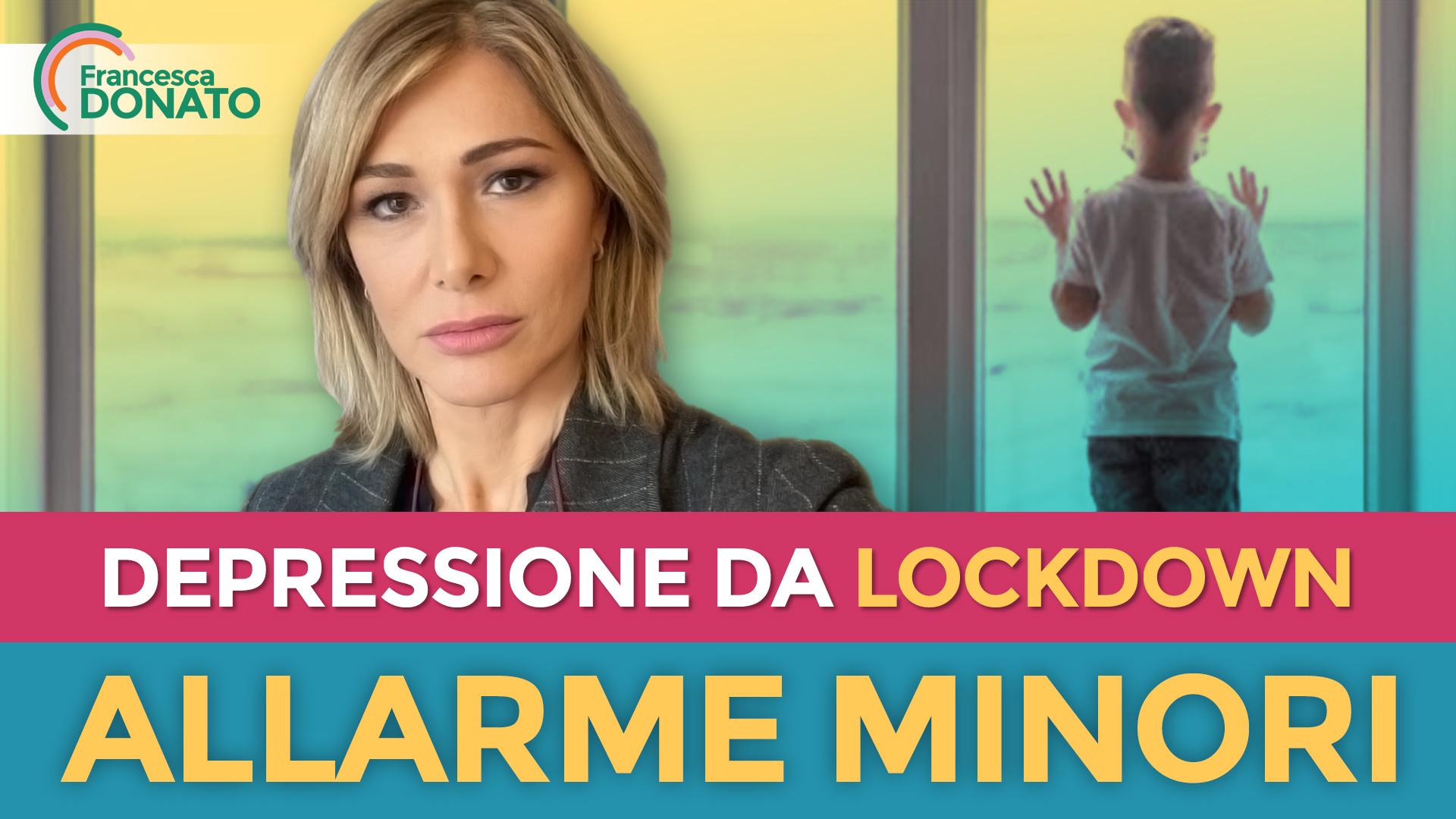 Depressione da lockdown: allarme minori