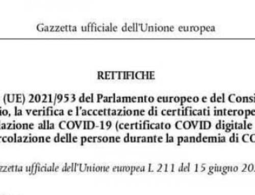 Green Pass Europeo: il gruppo ID ottiene la rettifica del passaggio che inficiava la libertà di scelta