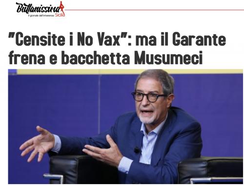 """""""Censite i No Vax"""": ma il Garante, giustamente, frena Musumeci"""