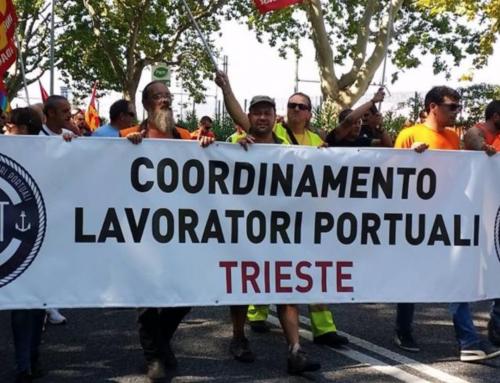 I lavoratori portuali di Trieste in prima linea a difendere il lavoro e la Costituzione