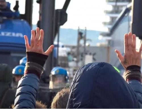 Repressione vergognosa a Trieste contro i manifestanti